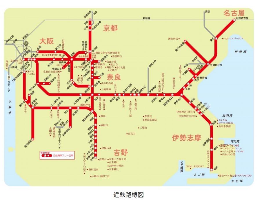近鉄全線_路線図